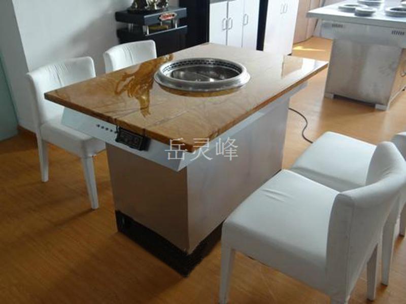 广东无烟火锅橡胶木餐桌椅