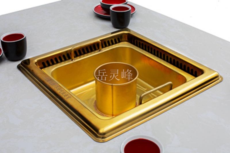 西安无烟火锅桌定制:材质、设计两者兼